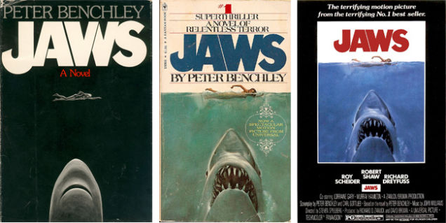 JAWS Book Covers and Movie Poster