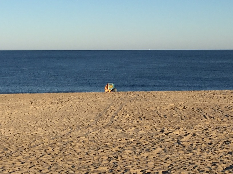 The Lone Chair on the Beach