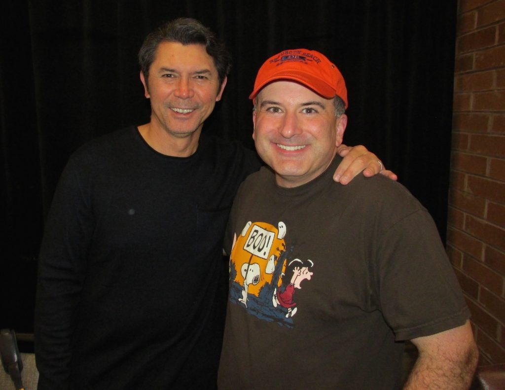 Phil with Lou Diamond Phillips at Chiller Theatre
