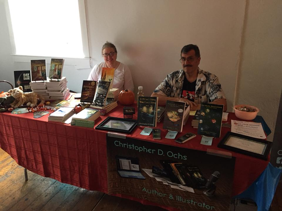 Carol L. Wright & Christopher Ochs at River Reads 2017