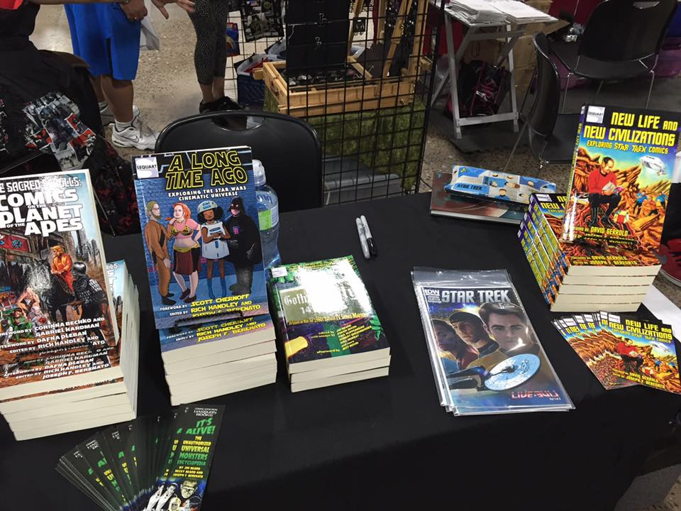 Table Setup at Great Philly Comic Con
