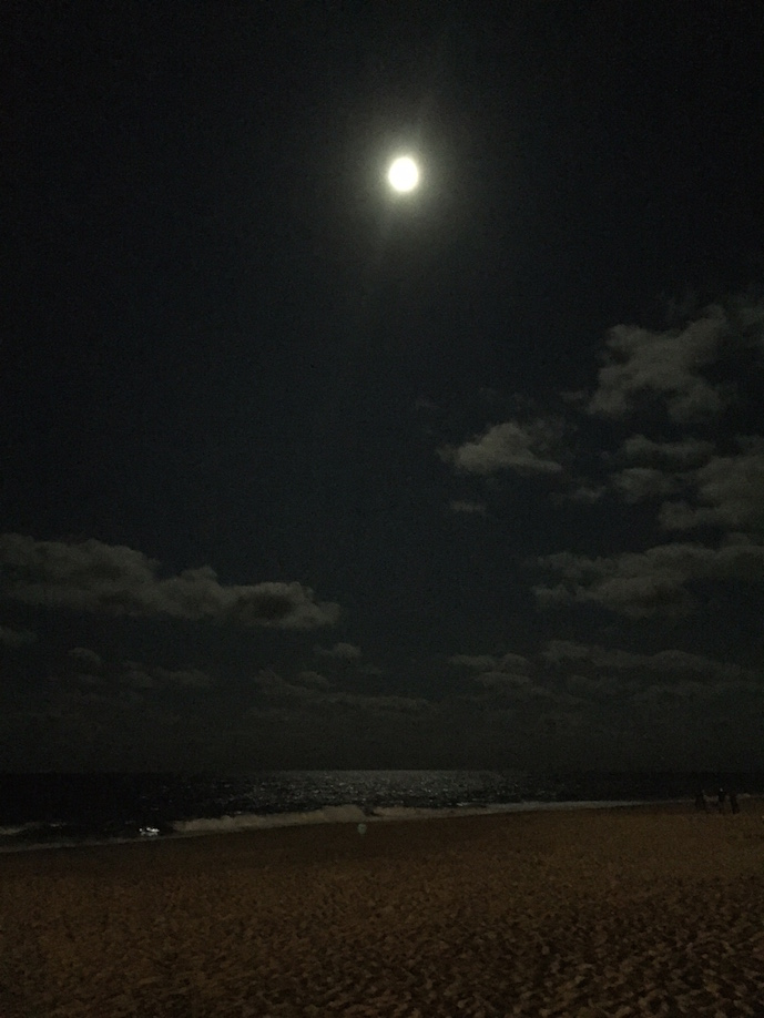 Moon over Rehoboth Beach