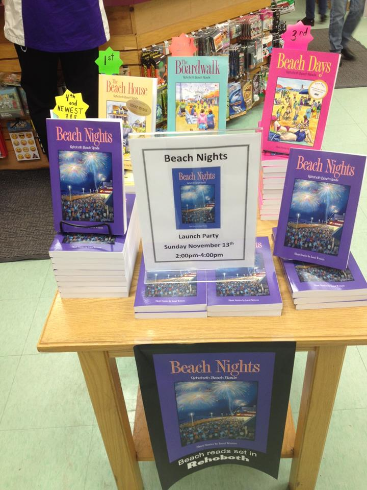 Beach Nights Display at Browseabout Books.