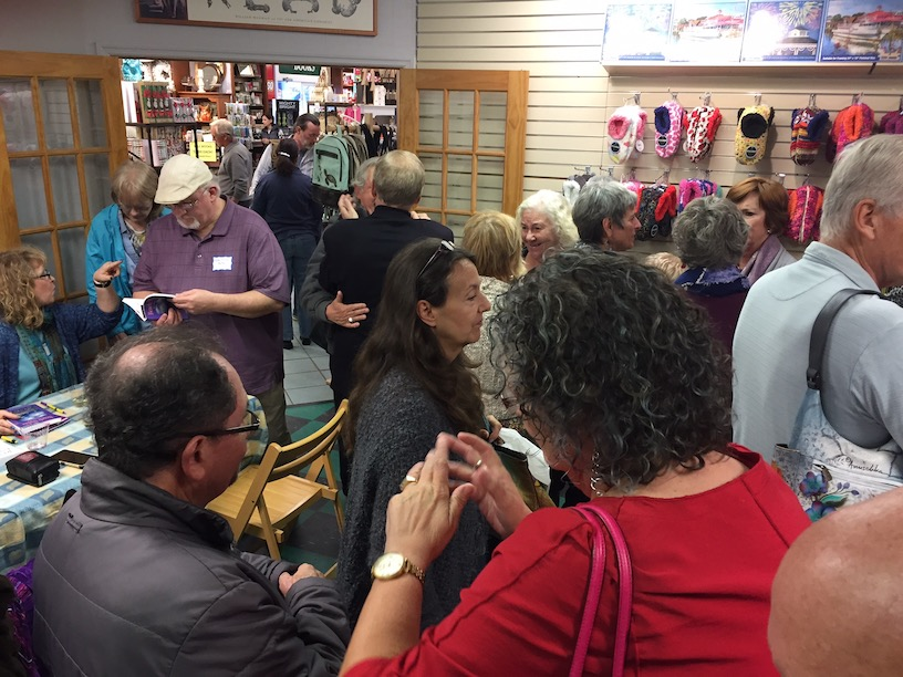 It's a crowded house at the Beach Nights book launch!