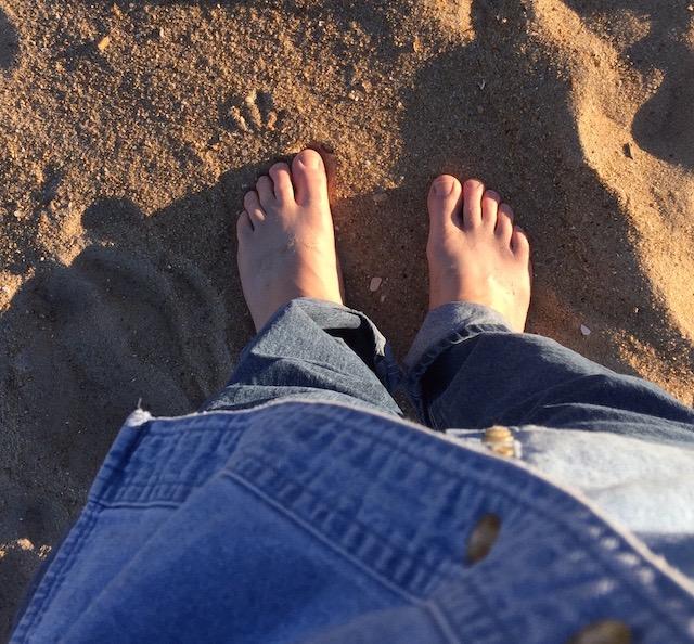 Cold November sand