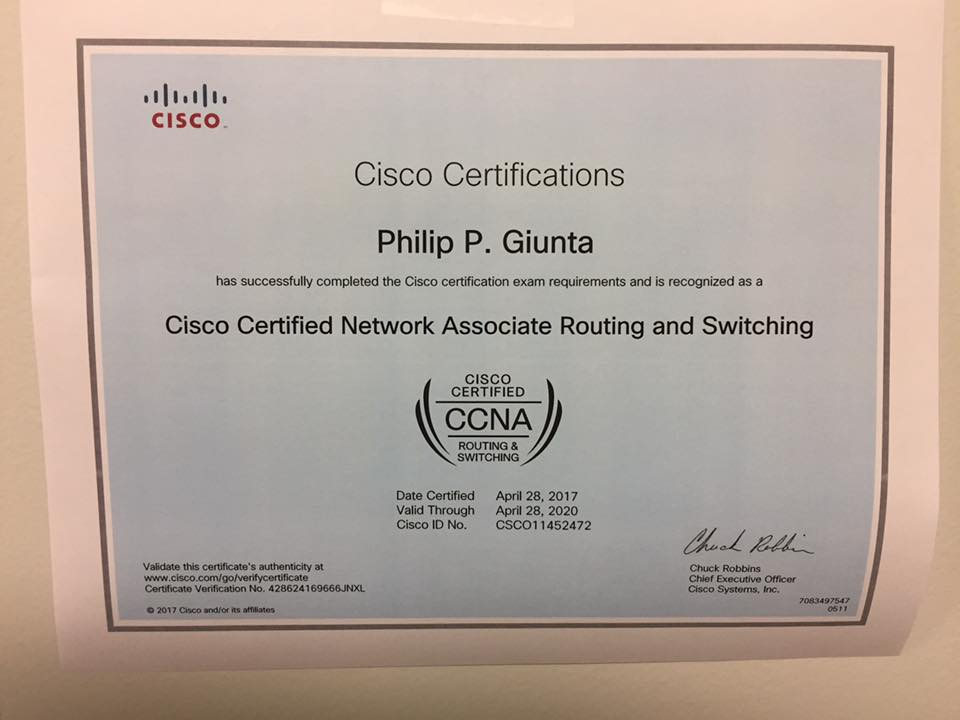 Cisco Ccna Phil Giunta Space Cadet In The Middle Of Eternity