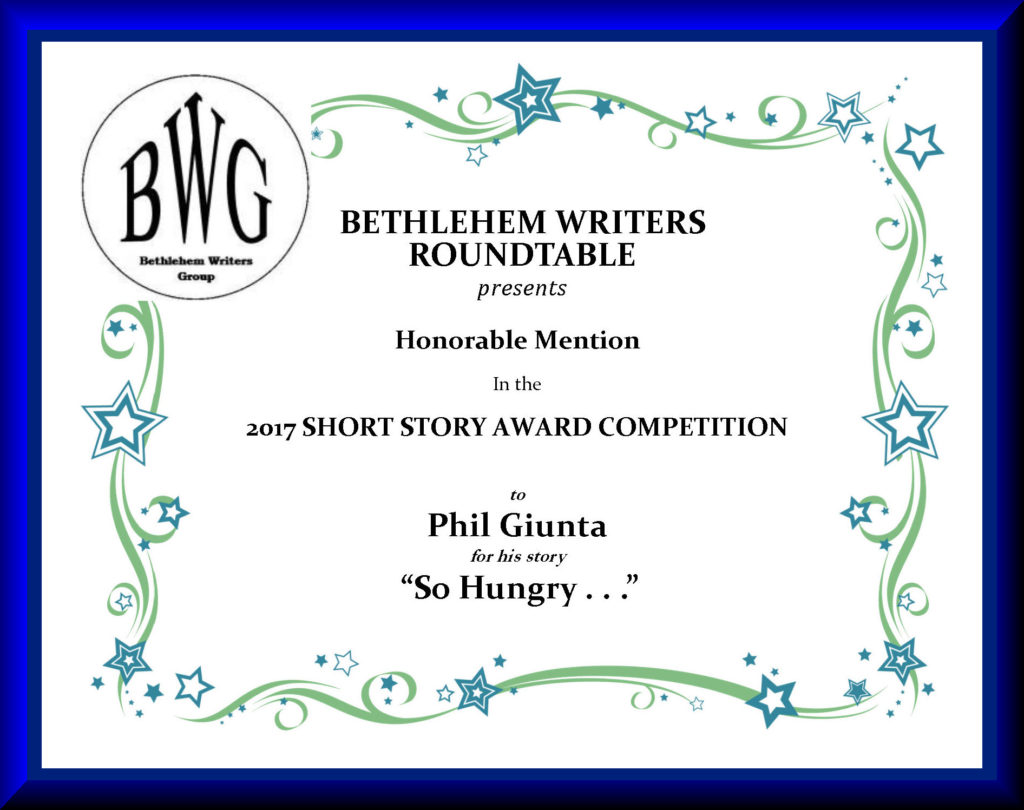 BWG Contest Honorable Mention