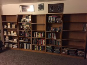 Bookcases Filling Up