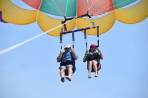 Parasailing with Renee