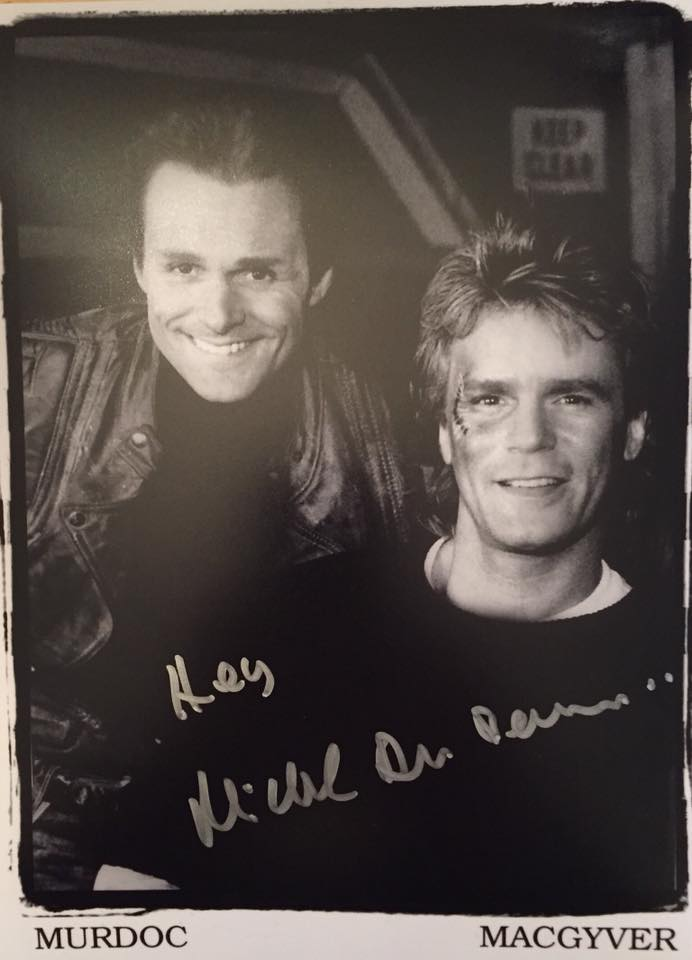 Richard Dean Anderson and Michael Des Barres