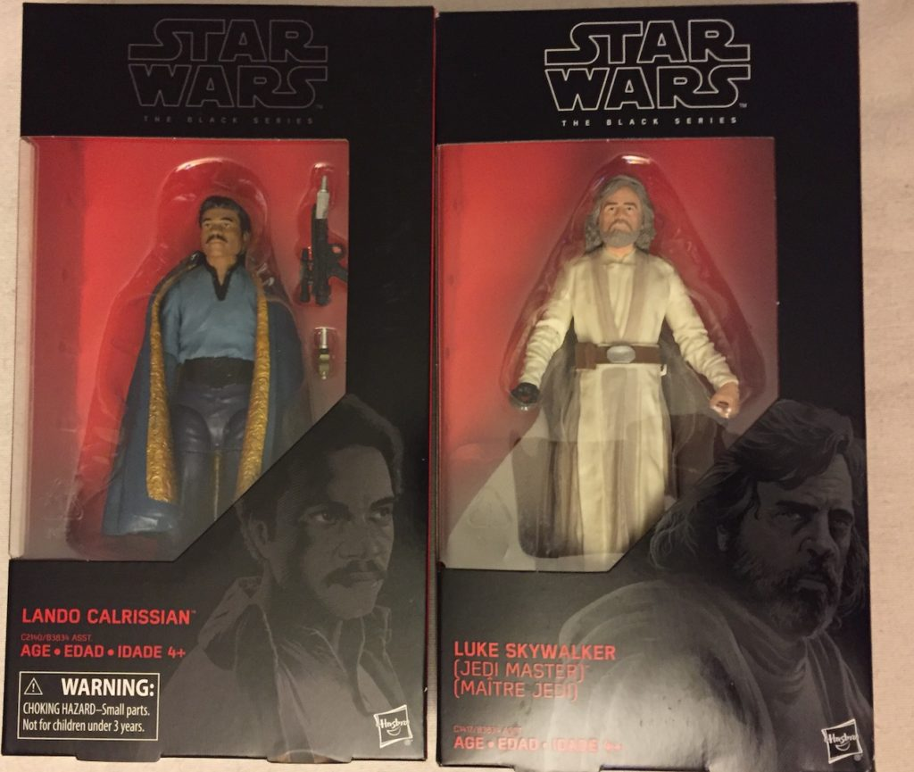 Star Wars Black Box Lando Calrissian and Jedi Master Luke Skywalker