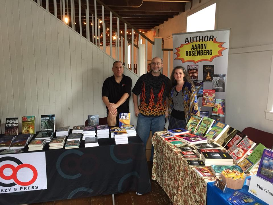 Russ, Aaron, and Heather at River Reads 2017
