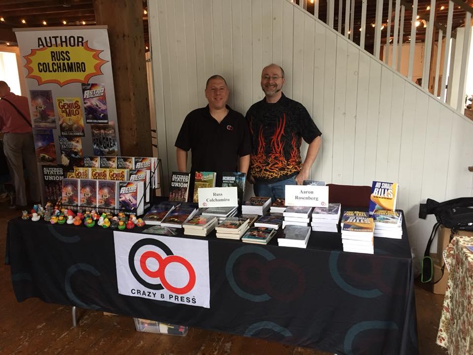 Russ Colchamiro & Aaron Rosenberg at River Reads 2017