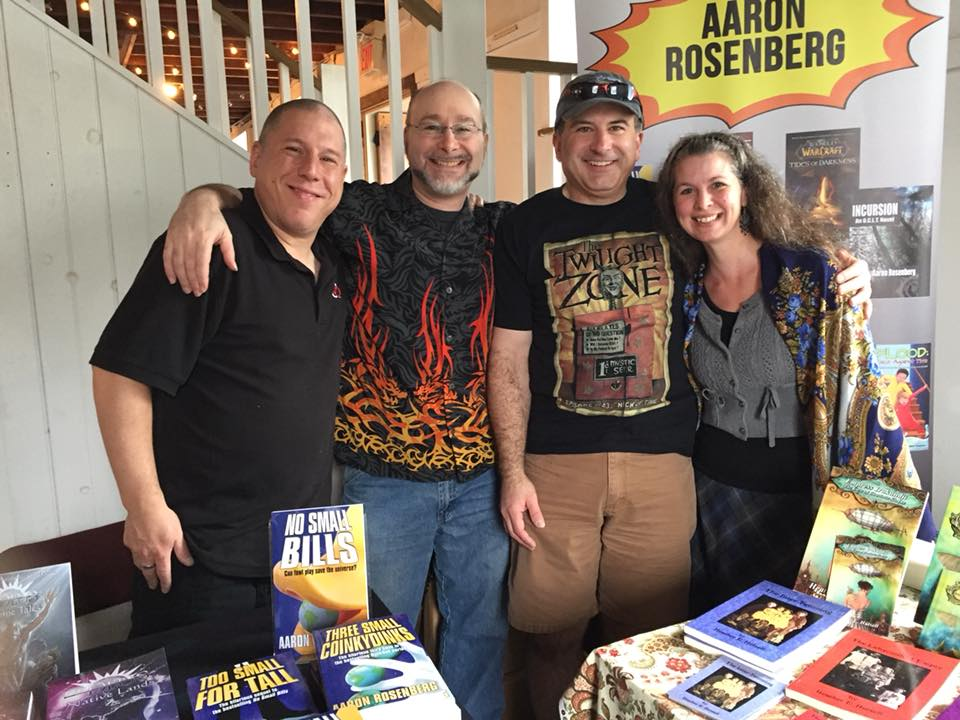 Russ, Aaron, Phil, and Heather at River Reads 2017