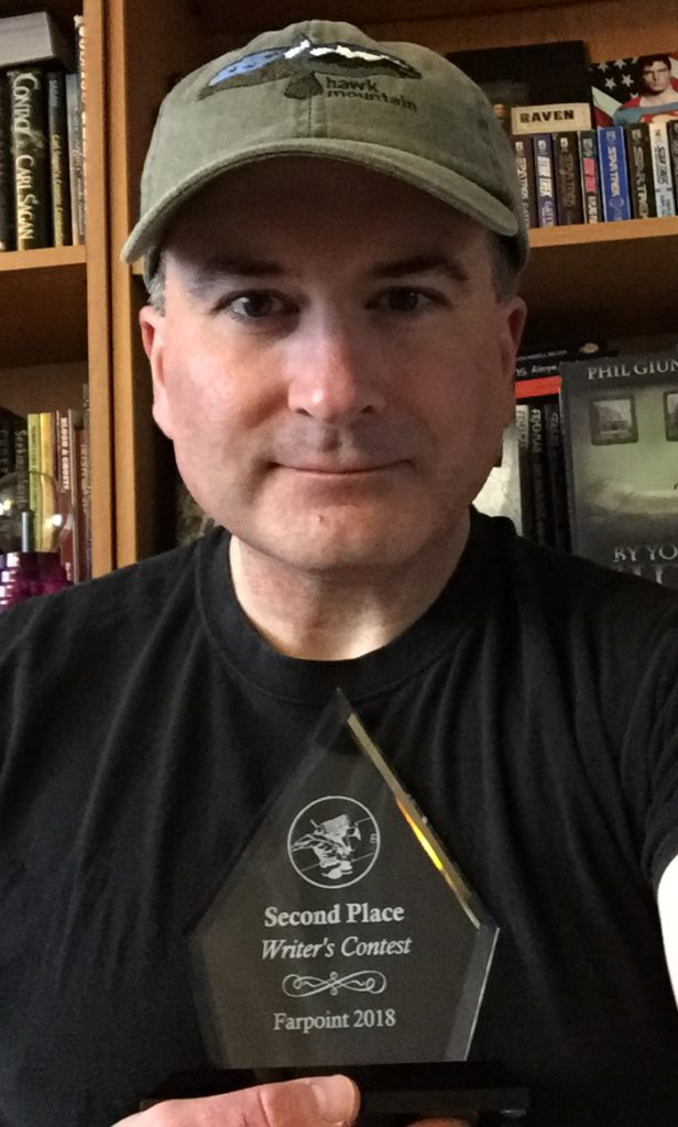 Second Place Trophy-Farpoint 25 Short Story Contest