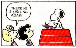 Snoopy Writing Again
