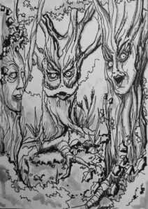 Forest for the Trees-Illustration by Michael Riehl